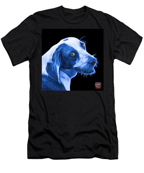 Blue Beagle Dog Art- 6896 - Bb Men's T-Shirt (Athletic Fit)