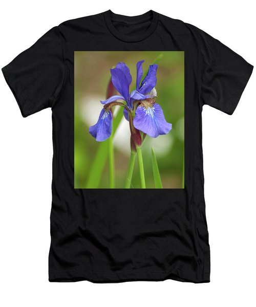 Men's T-Shirt (Athletic Fit) featuring the photograph Blue Bearded Iris by Brenda Jacobs