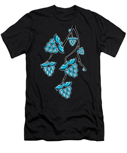 Blue Berries Branch Men's T-Shirt (Athletic Fit)