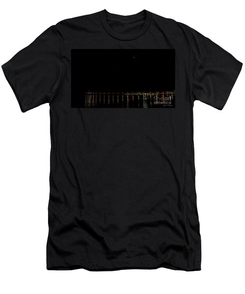 Blue Blood Moon 2018 Ventura, California Pier Men's T-Shirt (Athletic Fit)
