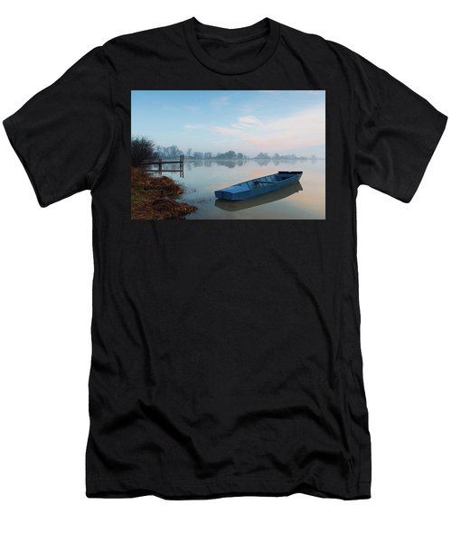 Men's T-Shirt (Athletic Fit) featuring the photograph Blue Boat by Davor Zerjav