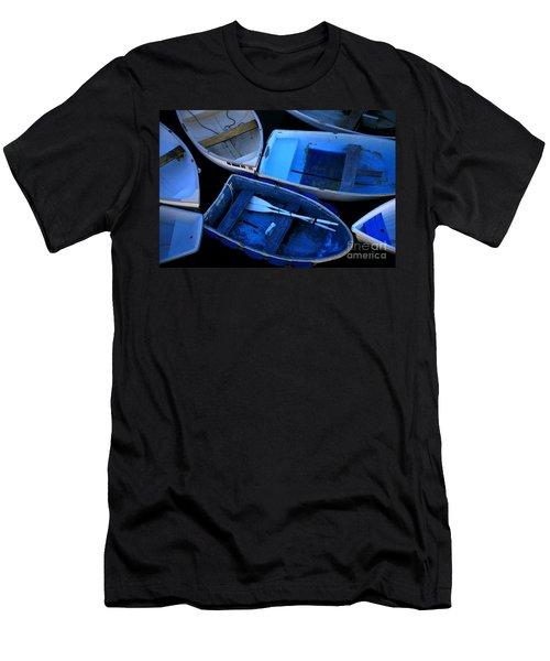 Blue Boats Men's T-Shirt (Athletic Fit)