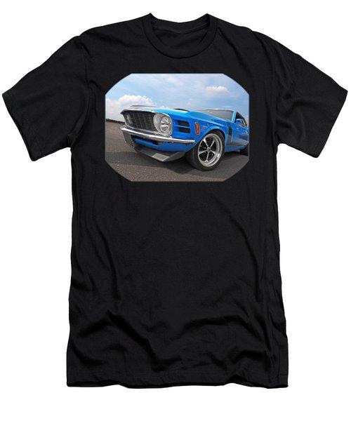 Blue Boss Mustang  Men's T-Shirt (Athletic Fit)