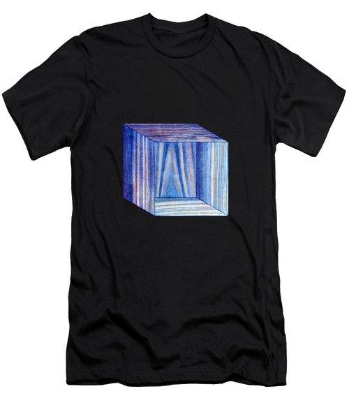 Blue Box Sitting Men's T-Shirt (Athletic Fit)