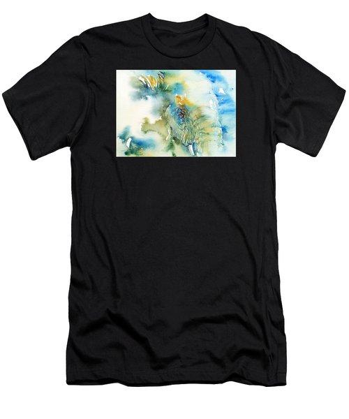 Blue Boy_ Elephant Men's T-Shirt (Athletic Fit)