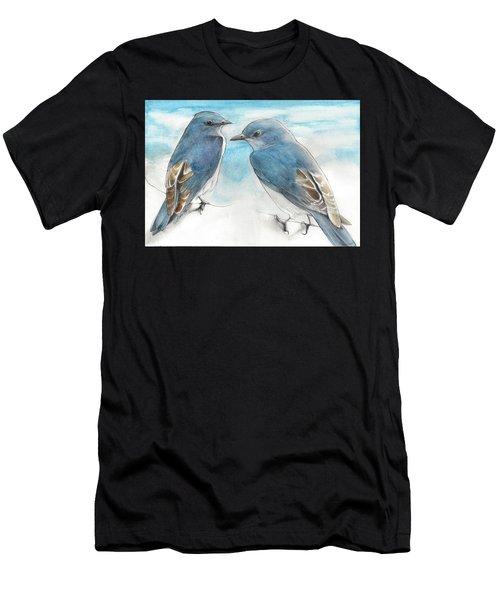 Blue Boys Men's T-Shirt (Athletic Fit)