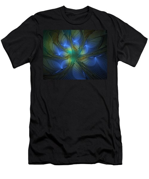 Blue Butterflies Men's T-Shirt (Athletic Fit)