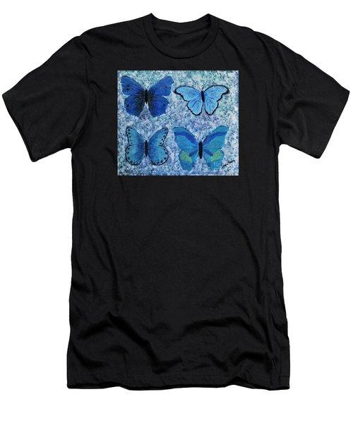 Blue Butterflies Men's T-Shirt (Athletic Fit)