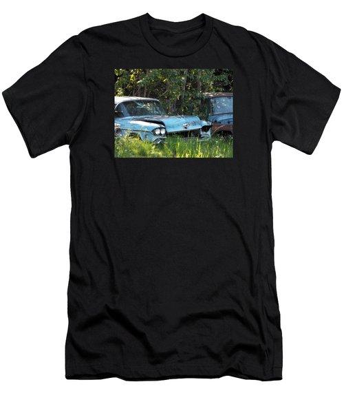 Blue Cadillac Men's T-Shirt (Athletic Fit)