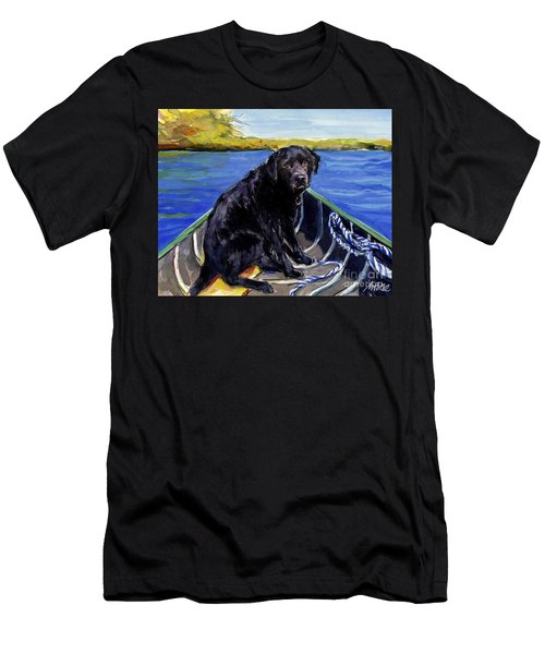 Blue Canoe Men's T-Shirt (Slim Fit) by Molly Poole
