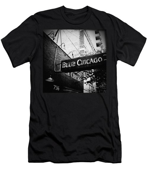 Blue Chicago Nightclub Men's T-Shirt (Athletic Fit)