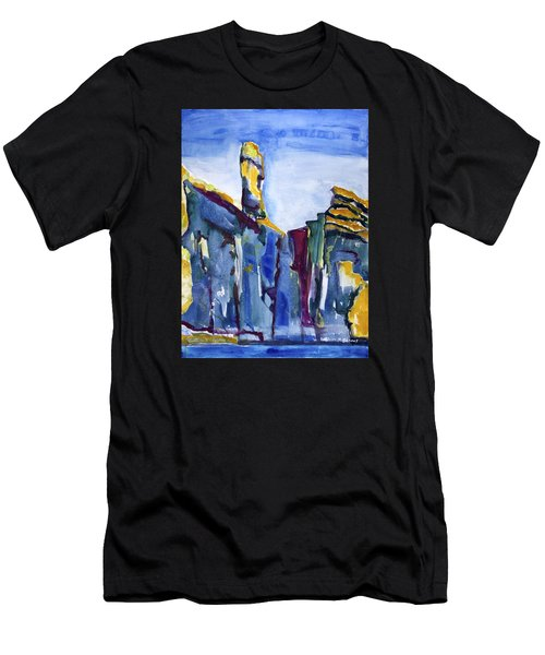 Blue Cliffs, Sea And Sky Men's T-Shirt (Athletic Fit)