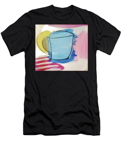 Blue Coffee Mug Men's T-Shirt (Athletic Fit)