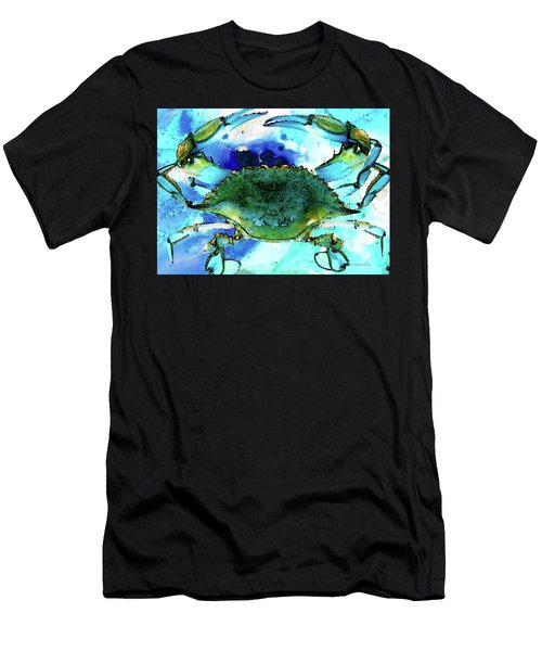 Blue Crab - Abstract Seafood Painting Men's T-Shirt (Athletic Fit)