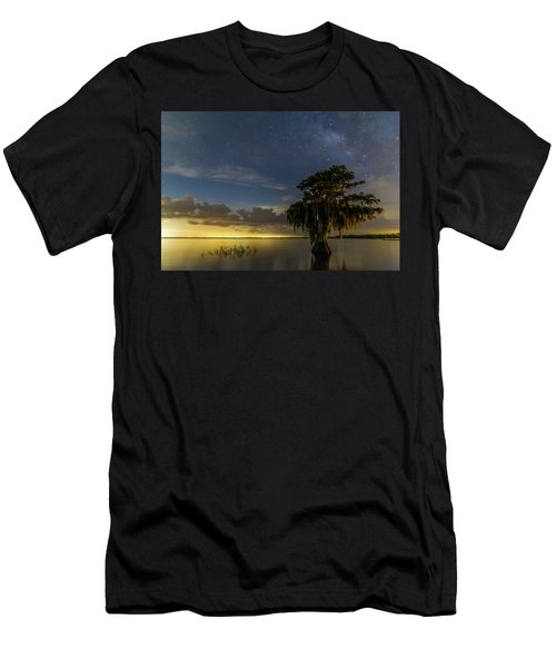 Blue Cypress Lake Nightsky Men's T-Shirt (Athletic Fit)