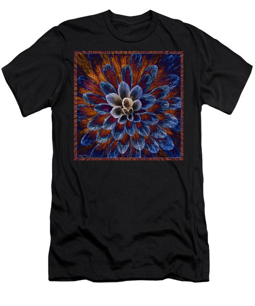 Blue Dahlia Men's T-Shirt (Athletic Fit)