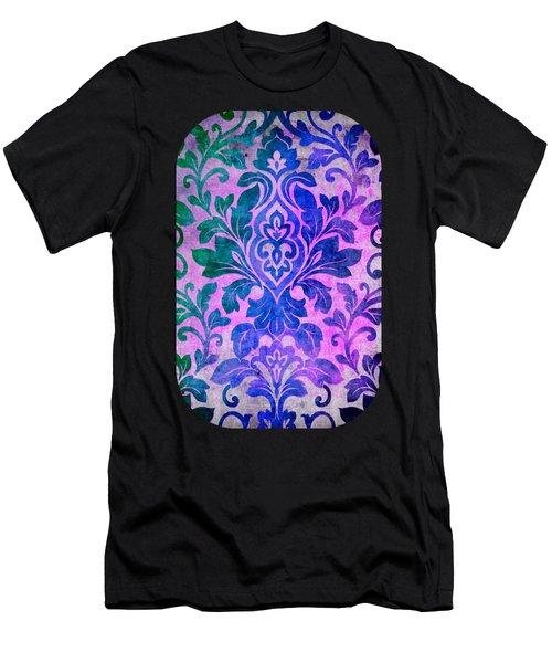 Blue Damask Pattern Men's T-Shirt (Athletic Fit)