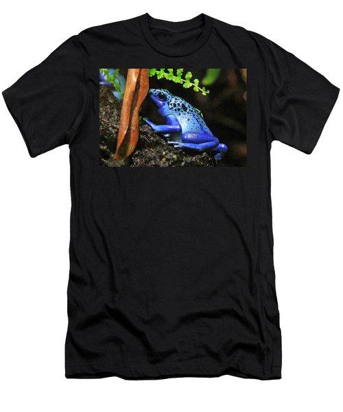 Blue Dart Frog Men's T-Shirt (Athletic Fit)