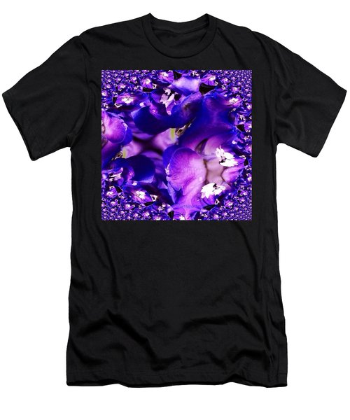 Blue Delphinium Abstracted Men's T-Shirt (Athletic Fit)