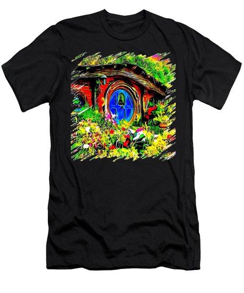 Blue Door Hobbit House-t Shirt Men's T-Shirt (Athletic Fit)