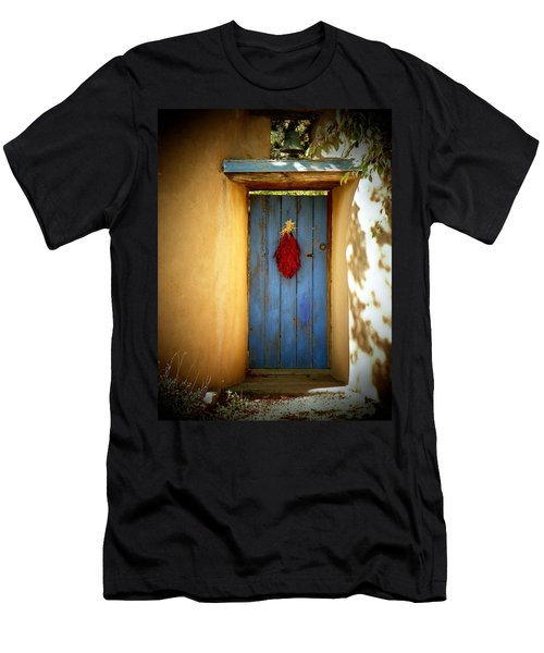 Blue Door With Chiles Men's T-Shirt (Athletic Fit)