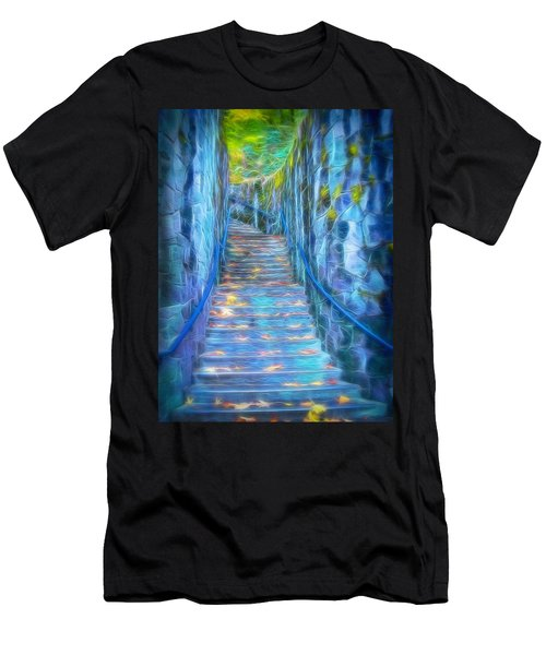 Blue Dream Stairway Men's T-Shirt (Athletic Fit)