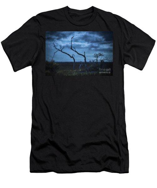 Blue Evening  Men's T-Shirt (Athletic Fit)