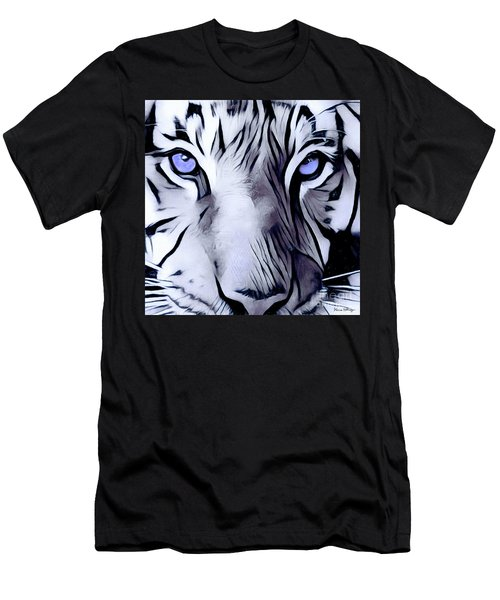 Blue Eyed Tiger Men's T-Shirt (Athletic Fit)