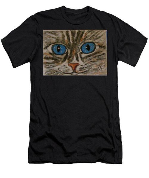 Blue Eyed Tiger Cat Men's T-Shirt (Athletic Fit)