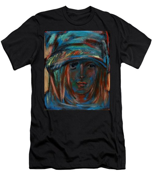 Blue Faced Girl Men's T-Shirt (Athletic Fit)