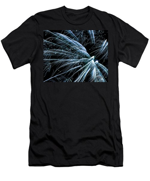 Blue Fairy Fireworks #0710_3 Men's T-Shirt (Athletic Fit)
