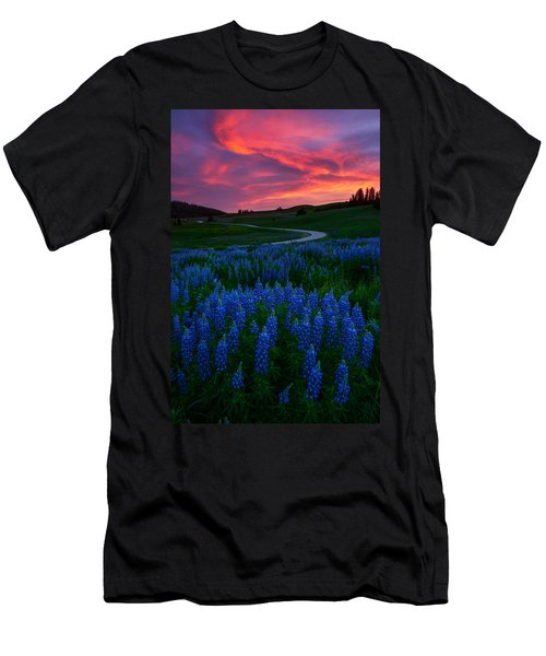 Men's T-Shirt (Athletic Fit) featuring the photograph Blue Flame by Dustin  LeFevre