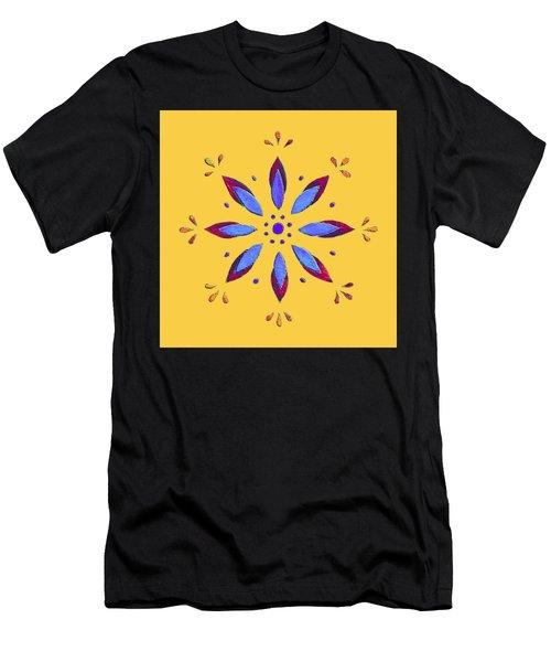 Blue Flower Men's T-Shirt (Athletic Fit)