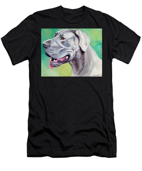 Blue Great Dane Men's T-Shirt (Athletic Fit)