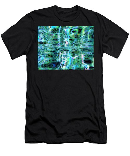 Blue Green Abstract 091015 Men's T-Shirt (Athletic Fit)