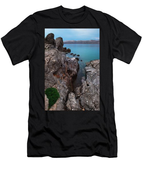 Men's T-Shirt (Athletic Fit) featuring the photograph Blue, Green, Gray by Davor Zerjav