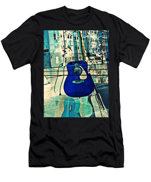 Blue Guitar Men's T-Shirt (Athletic Fit)