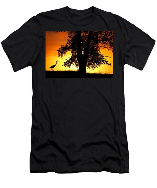 Blue Heron At Sunrise Men's T-Shirt (Athletic Fit)