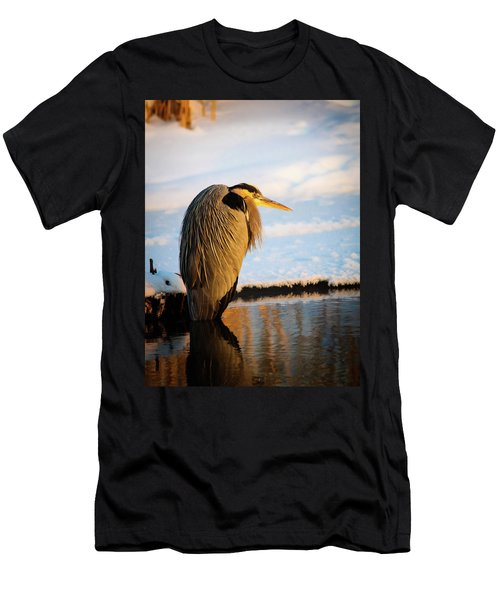 Blue Heron Resting Men's T-Shirt (Athletic Fit)