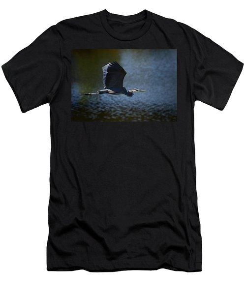 Blue Heron Skies  Men's T-Shirt (Athletic Fit)