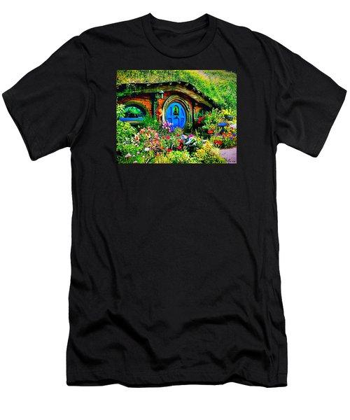 Blue Hobbit Door Men's T-Shirt (Slim Fit) by Kathy Kelly