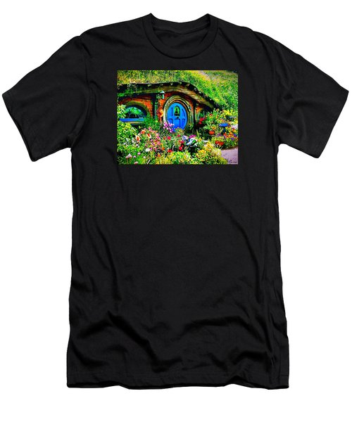Blue Hobbit Door Men's T-Shirt (Athletic Fit)