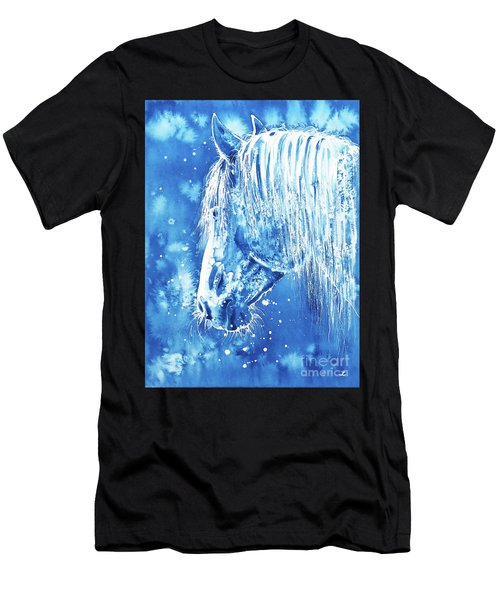 Blue Horse Men's T-Shirt (Athletic Fit)