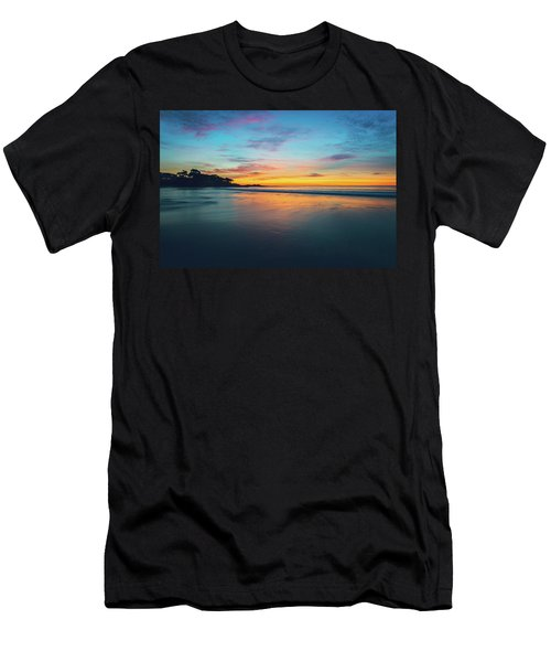 Blue Hour At Carmel, Ca Beach Men's T-Shirt (Athletic Fit)