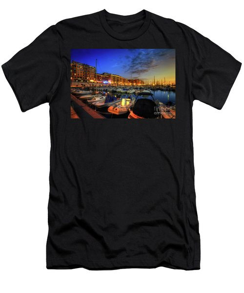 Men's T-Shirt (Slim Fit) featuring the photograph Blue Hour At Port Nice 1.0 by Yhun Suarez