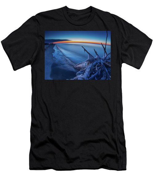 Blue Hour Fisheye Men's T-Shirt (Athletic Fit)