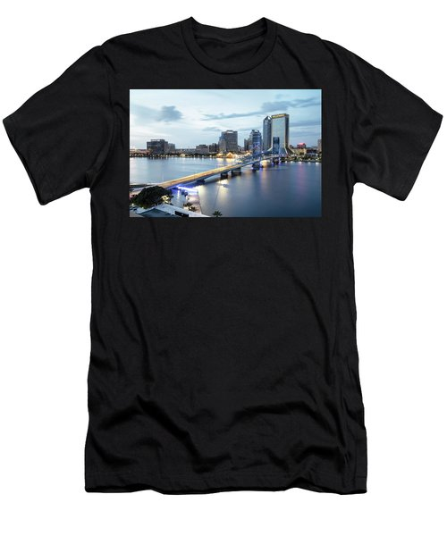 Blue Hour In Jacksonville Men's T-Shirt (Athletic Fit)
