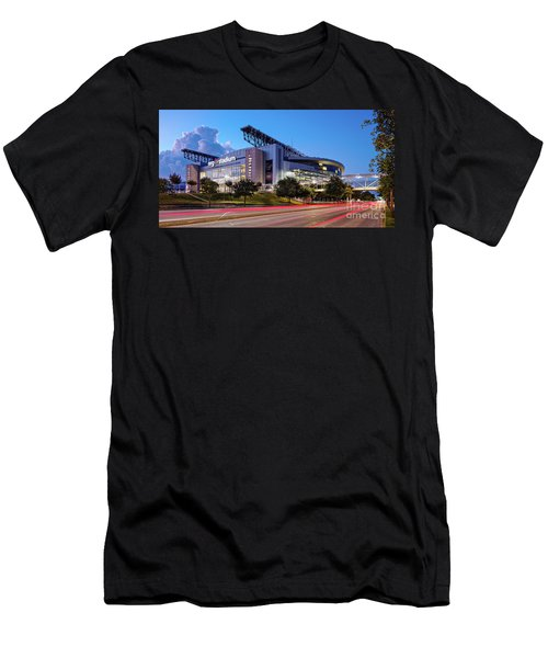 Blue Hour Photograph Of Nrg Stadium - Home Of The Houston Texans - Houston Texas Men's T-Shirt (Athletic Fit)