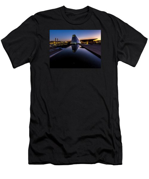 Blue Hour Reflections On Glass Men's T-Shirt (Athletic Fit)