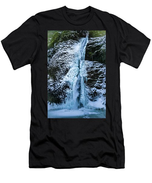Blue Ice And Water Men's T-Shirt (Athletic Fit)